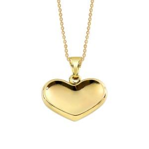 Kalpli altın sevgililer günü kolye