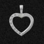 Hediye Gümüş Kalp Kolye